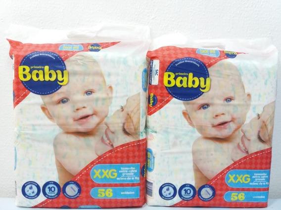 Fraldas Descartáveis Primeiro Baby Xxg 112 Unidades