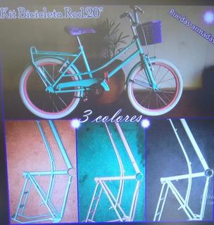 Bicicleta Full De Nena Rodado 20 Con Canasto