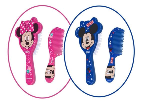 Conjunto Escova Pente De Cabelo Para Bebês Mickey Ou Minnie