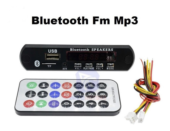 10 Placas Decodificador Bluetooth 3.0 Mp3 Fm 12v 32gb Usb Sd
