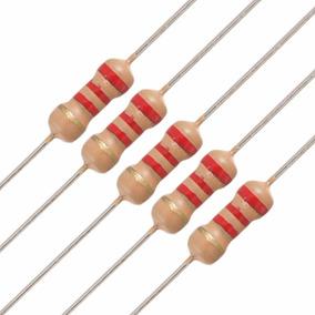 Resistor 2k2 1/4 W 5% 100 Pçs