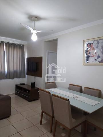 Apartamento Com 2 Dormitórios À Venda, 47 M² Por R$ 165.000 - Parque Industrial Lagoinha - Ribeirão Preto/sp - Ap4436