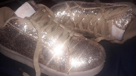 Zapatillas Footy Con Glitters 47 St Doradas
