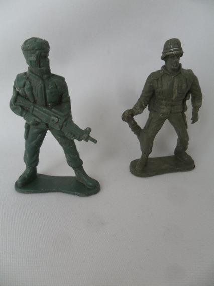 Boneco Soldado Forte Apache Brinquedo Antigo 2 Unidades