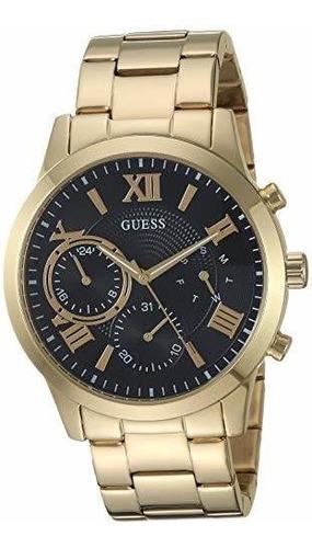 Reloj Cronografo De Hombre Guess Negro Y Dorado