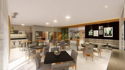 Apartamento 01 Dormitório, Sendo Suite, 01 Vaga De Garagem, Alto Padrão, Bairro Caiçara , Praia Grande /sp. - Ap1708