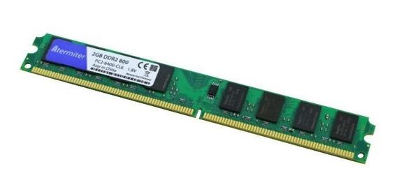 Memórias Ddr2 4gb 800 Mhz - Kit Com 2 Memórias De 2gb Cada.