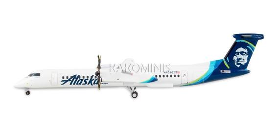 Miniatura Avião Alaska Q400 New Livery 1/400 Gemini