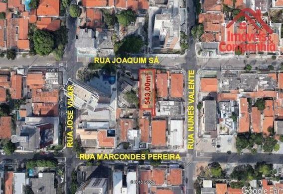 Excelente Casa No Bairro Dionísio Torres, Localizada Na Rua Joaquim Sá, Terreno Com Área Total De 543,00m² - Te0156