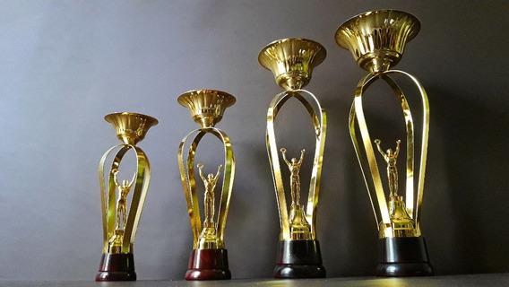 Trofeo Copa Metálico Standard Triunfo Laurel Base Mad 30cm