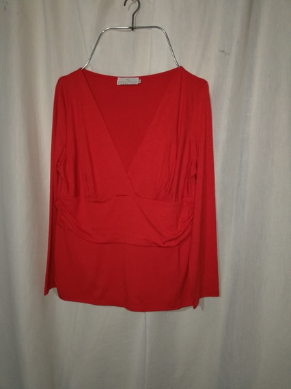 Remera De Mujer, Roja Talle 3, L / Xl, Escote En V