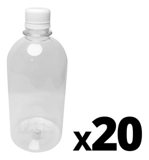 Combo X20 Envase Vacío Plástico Pet Tapa A Rosca 1/2 Litro