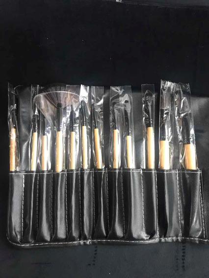 Set X12 Brochas De Maquillaje Profesional + Brochero