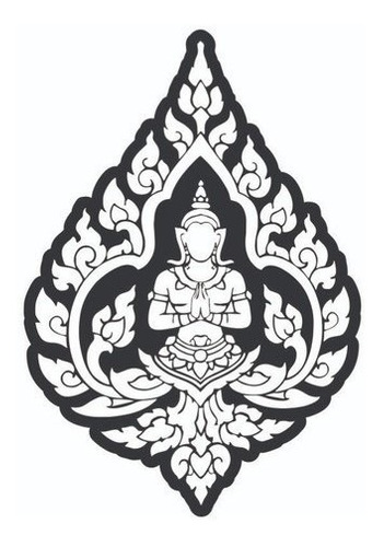 Quadro Decorativo Buda Namastê - Mdf Preto 3mm