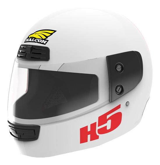 Casco Moto Halcon H5 Integral Blanco Tienda Oficial