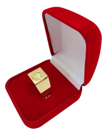 Anel Masculino Ouro 18kl/750 Com Letra 10 Gramas