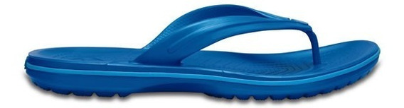 Sandalia Crocs Dama Crocband Flip Azul