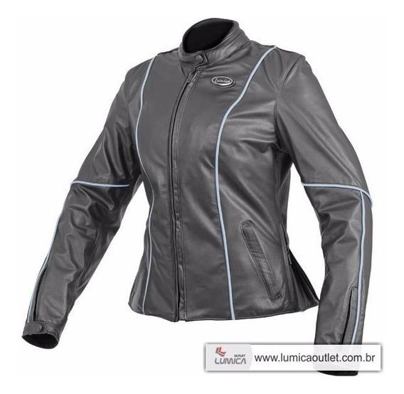 Jaqueta De Couro Bovino Feminino, Motociclista E Casual Jl30