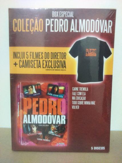 Box Coleção Pedro Almodóvar Com Camiseta *novo *frete Grátis