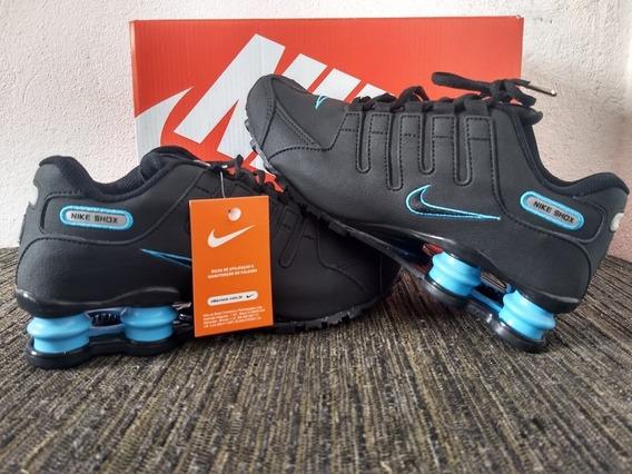 Tênis Nike Shoz Nz Foto Original Nvo Preto-azul