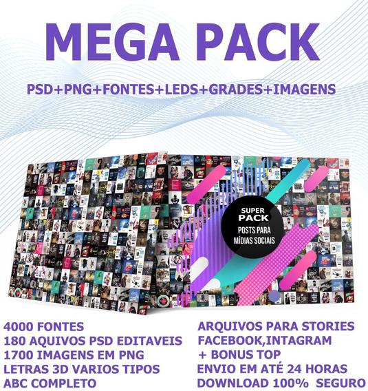 Pack Artes Prontas Mídias Sociais Fontes + Bônus Top
