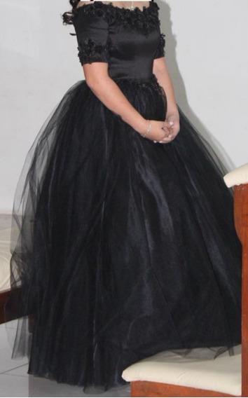 Vestido De Quinceaños Largo Color Negro