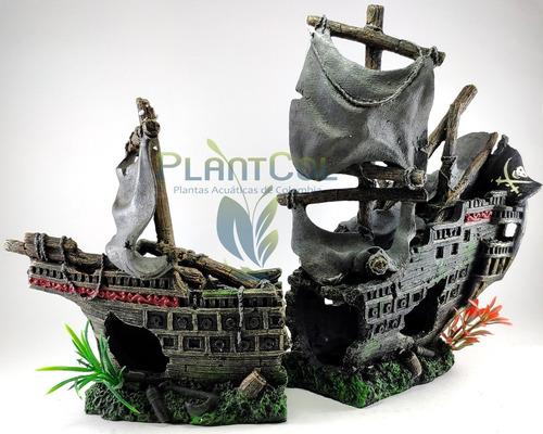Decoración Adorno Barco Pirata Ws027lp