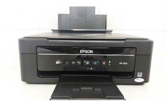 Impressora Multifuncional Epson Xp-204 Usada Com Cartuchos