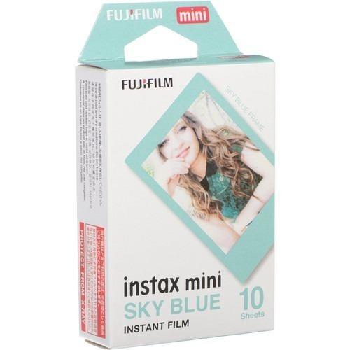 Filme Instantâneo Fujifilm Instax Mini Sky Blue Com 10 Fotos