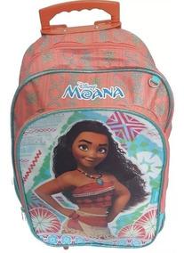 Mochila Moana Original Grande Escolar Infantil C/ Rodinhas