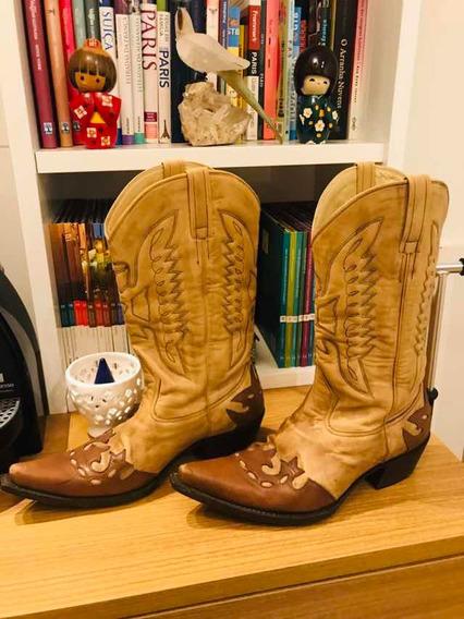 Bota Tamanho 41 Couro Legítimo Waltão Boots