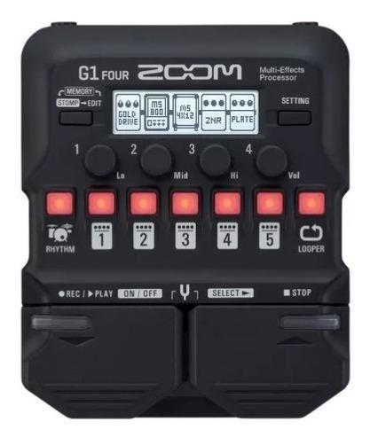 Pedaleira Zoom G1 Four 70efeitos Stompbox Amps Loop Promoção