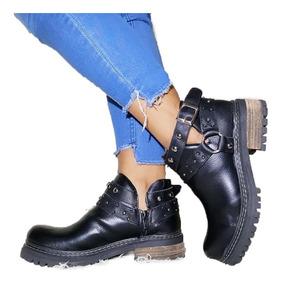 Botas Mujer Zapatos Platafotma Botinetas Otoño-invierno A.54