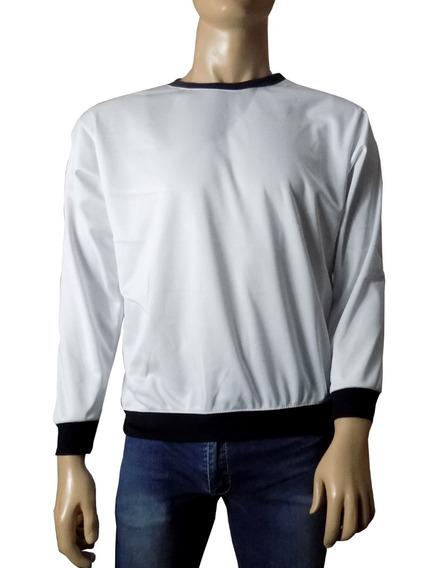 Sudadera Para Sublimar Sportock Blanca Unisex Cuello Redondo