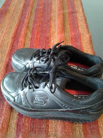 Zapatillas Skechers Mujer Shape Us 7usa 37arg Negras