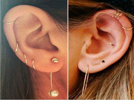Piercing Orelha Cartilagem E Nariz Argola Ouro 18k 750