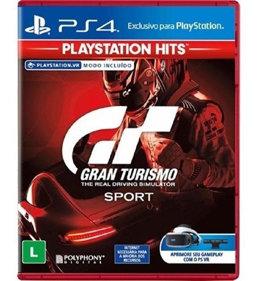 Gran Turismo Sport - Midia Fisica Lacrado E Original - Ps4