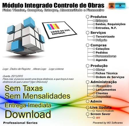 Software Controle De Obras Compras Financeiro E Estoque