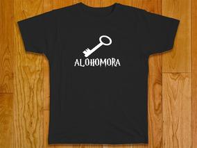 Camiseta Masculina Plus Size Harry Potter Alohomora 100% Alg