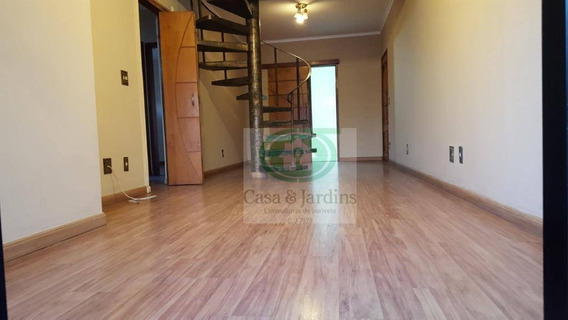 Cobertura Duplex, 3 Dormitórios/1 Suíte, 02 Vagas 230 M² Úteis R$ 540.000 - Marapé - Santos/sp - Co0201