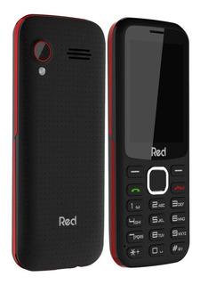 Celular Red Mobile Mega 2 Chips E Rádio Fm Preto/vermelho