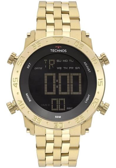Relógio Technos Masculino Dourado Lançamento Nfe