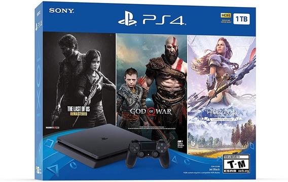 Ps4 Playstation 4 Slim 1tb + 3 Juegos Nuevo De Paquete