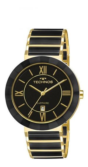 Relógio Technos Feminino Ceramic Sapphire 2015bv/4p Preto