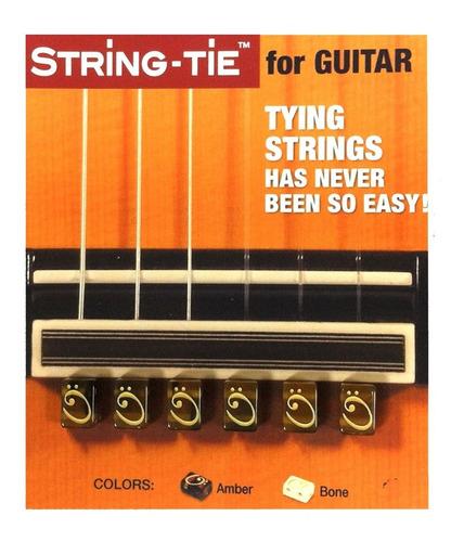 Imagen 1 de 4 de String Tie Para Guitarras Color Ambar