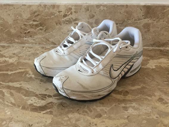 Tenis Nike Tam 37 Branco Com Vermelho - Solado Descolando