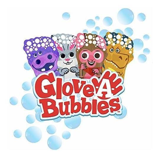 Glove A Bubbles Paquete De 4 1dinosaurio 1hipopótamo 1ove