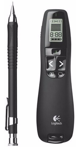 Apresentador Apontador R800 Laser Wireless Power Point