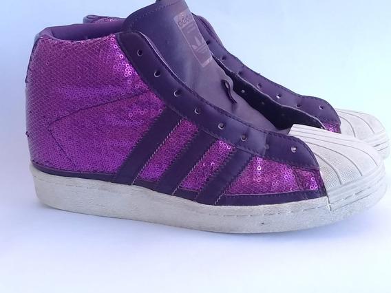 Zapatillas Botitas adidas Superstar Lentejuelas Mujer