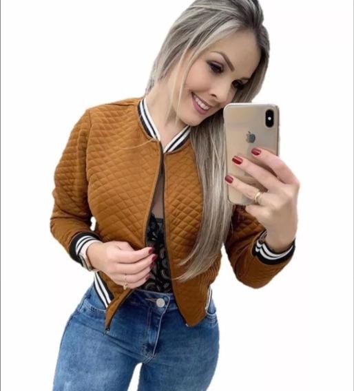 Jaquetinha Bomber Feminina Blazer Casaco Blusa Roupa Quente